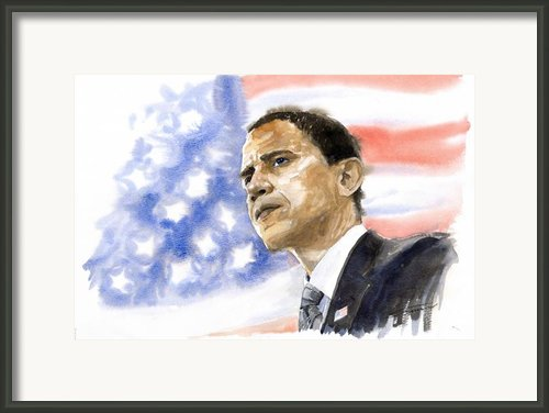 Barack Obama 03 Framed Print By Yuriy  Shevchuk