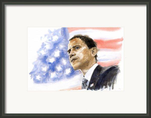 Barack Obama 03 Framed Print By Yuriy  Shevchuk