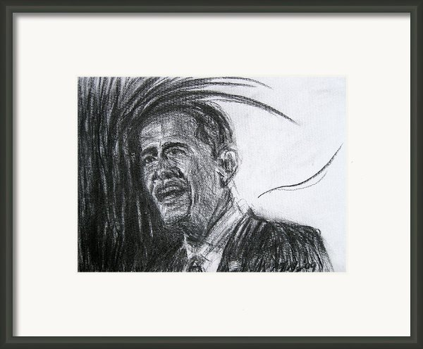Barack Obama 1 Framed Print By Michael Morgan