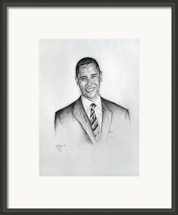 Barack Obama 2 Framed Print By Michael Morgan