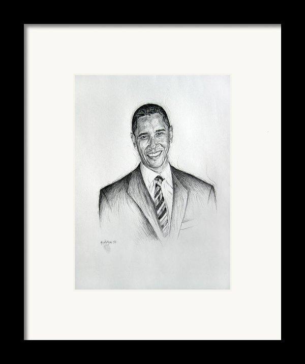 Barack Obama 2 Framed Print By Michael Morgan