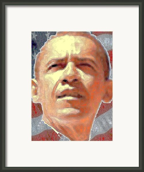 Barack Obama American President Framed Print By Peter Art Print Gallery  - Paintings Photos Posters