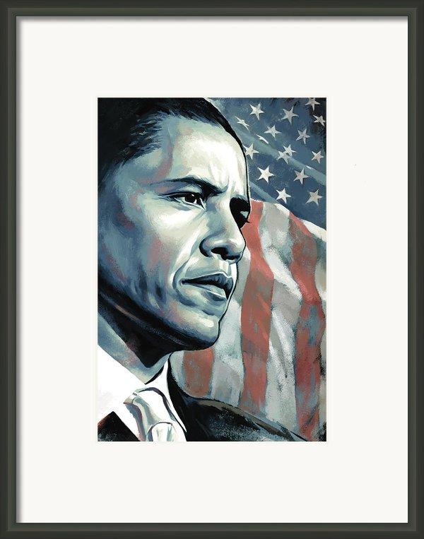 Barack Obama Artwork 2 B Framed Print By Sheraz A