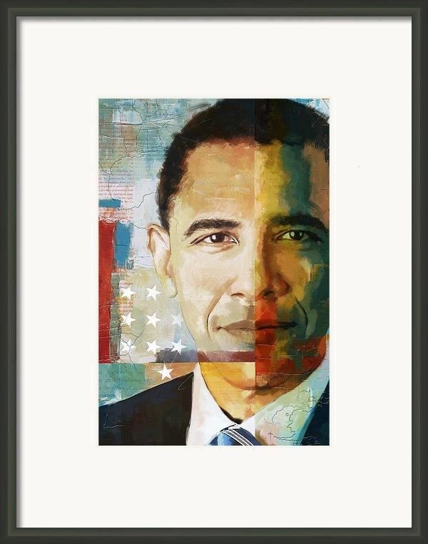 Barack Obama Framed Print By Corporate Art Task Force