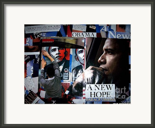 Barack Obama Framed Print By Isis Kenney