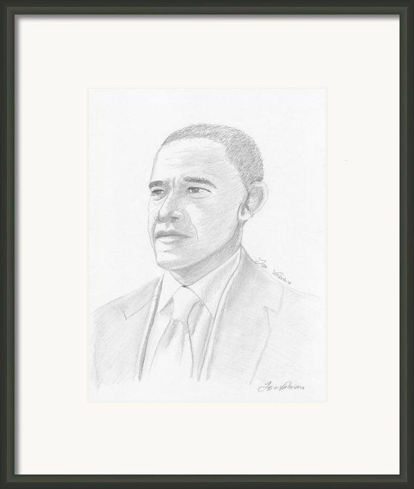 Barack Obama Framed Print By Jose Valeriano