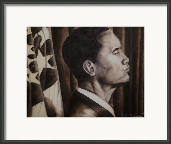 Barack Obama Framed Print By Larry Silver