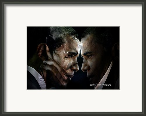 Barack Obama -  Framed Print By Lynda Payton
