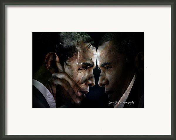 Barack Obama -  Framed Print By Lynda Payton