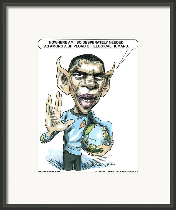 Barack Obama Framed Print By Taylor Jones