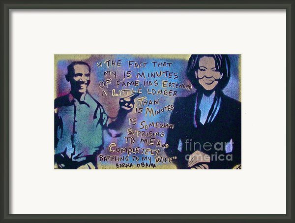 Barack With Michelle Framed Print By Tony B Conscious