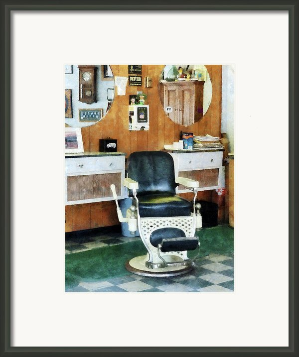 Barber - Barber Shop One Chair Framed Print By Susan Savad