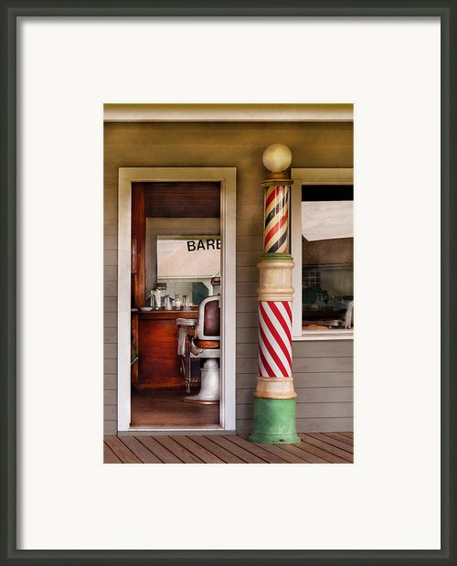 Barber - I Need A Hair Cut Framed Print By Mike Savad