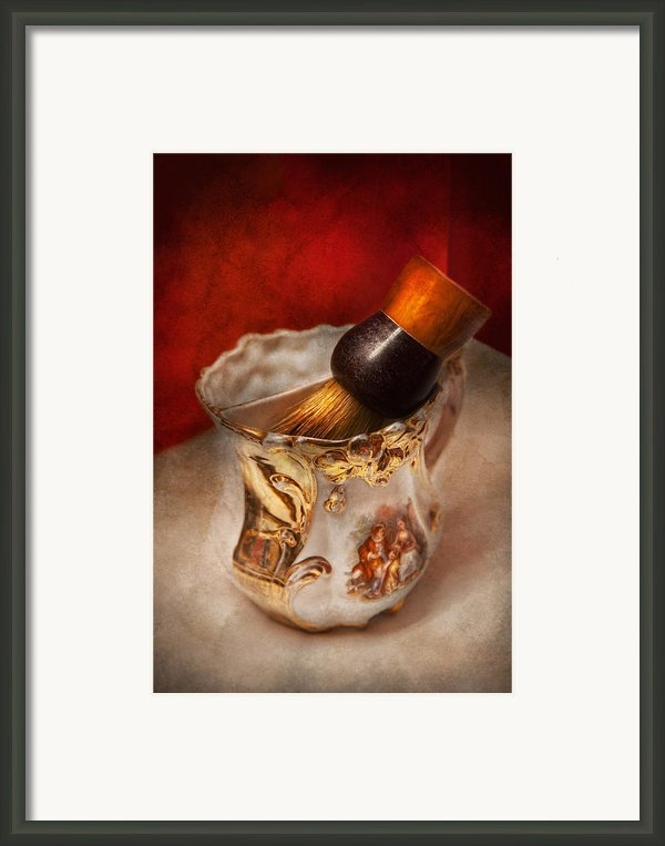 Barber - Shaving - The Beauty Of Barbering Framed Print By Mike Savad