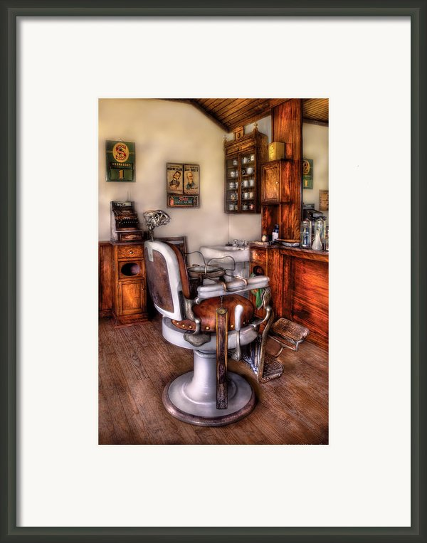 Barber - The Barber Chair Framed Print By Mike Savad