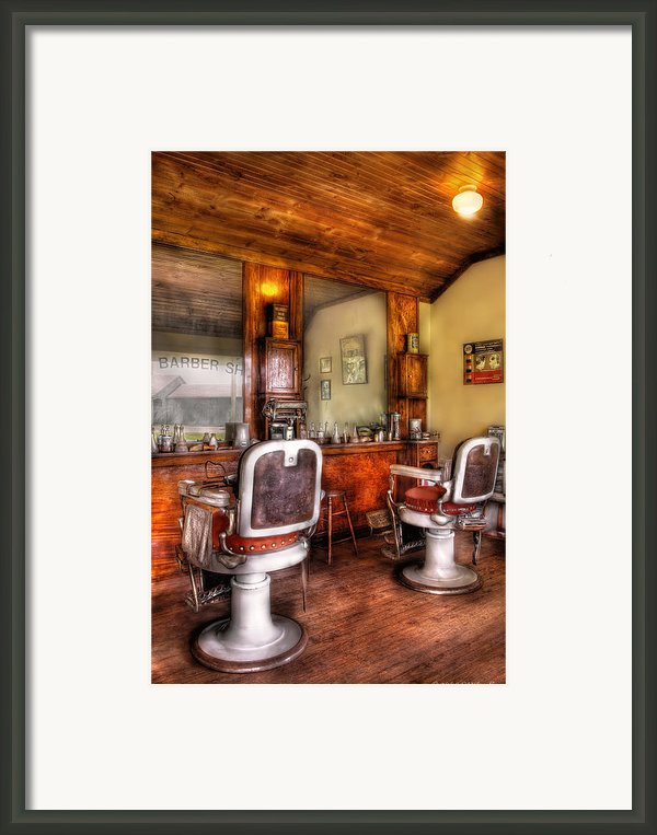 Barber - The Barber Shop Ii Framed Print By Mike Savad