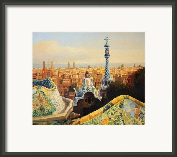 Barcelona Park Guell Framed Print By Kiril Stanchev