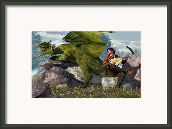 Bard And Dragon Framed Print By Daniel Eskridge