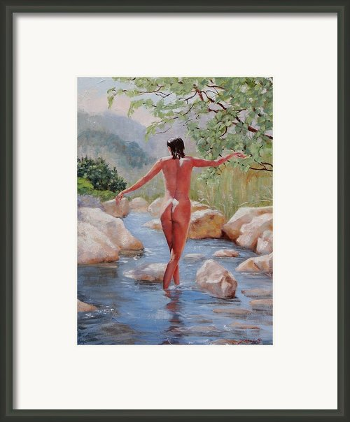Bare Reflections Framed Print By Laura Lee Zanghetti