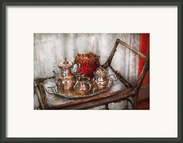 Barista - Tea Set - Morning Tea  Framed Print By Mike Savad
