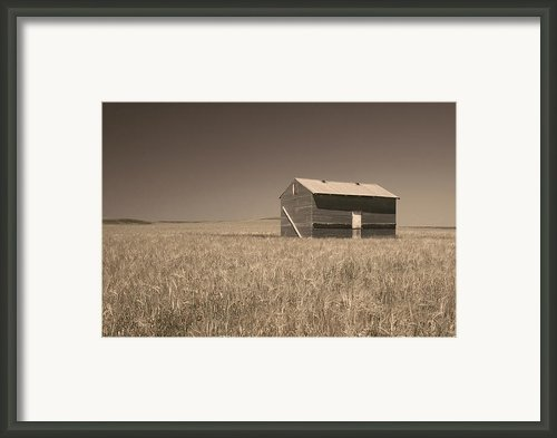 Barn At Chocteau Sepia Framed Print By Rich Franco