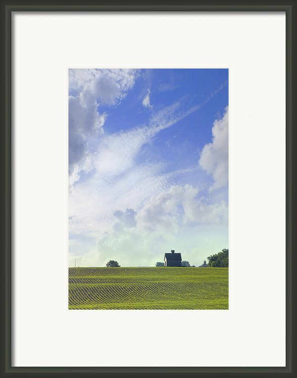 Barn On Top Of The Hill Framed Print By Mike Mcglothlen
