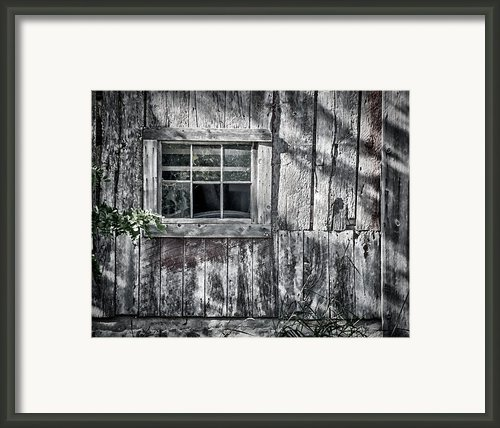 Barn Window Framed Print By Joan Carroll