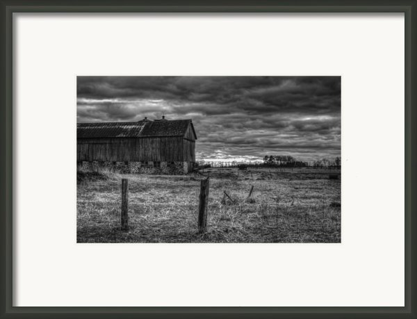 Barn Yard Framed Print By Thomas Young