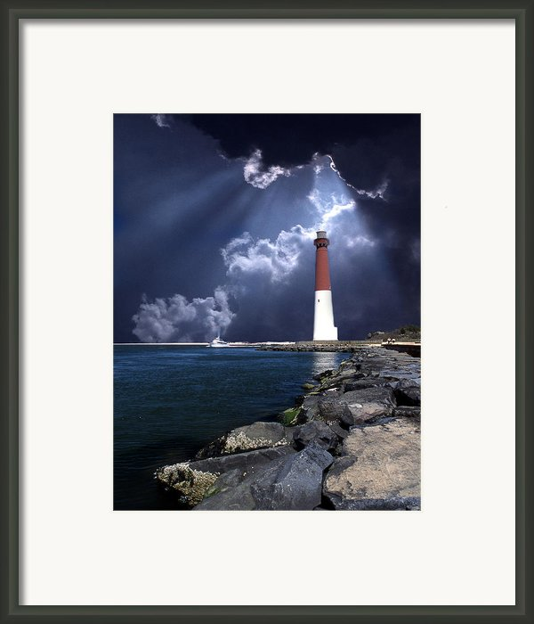 Barnegat Inlet Lighthouse Nj Framed Print By Skip Willits