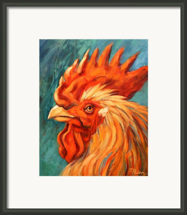 Barnyard King Framed Print By Theresa Paden