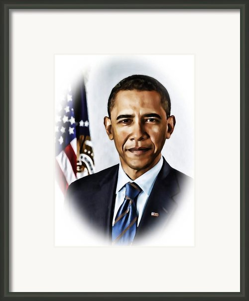 Barrack Obama Framed Print By Tyler Robbins