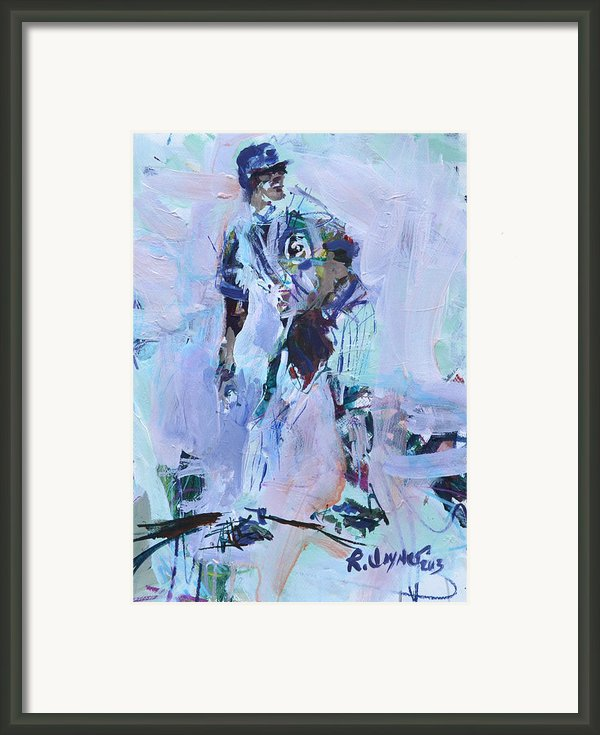 Baseball Art Framed Print By Robert Joyner
