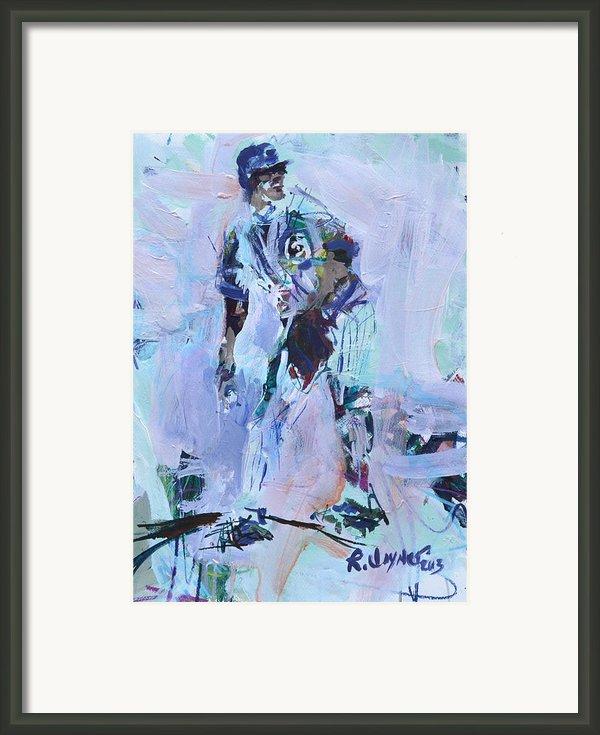Baseball Art Framed Print By Robert Joyner