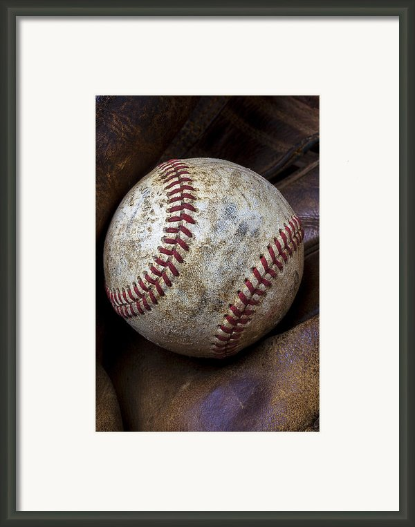 Baseball Close Up Framed Print By Garry Gay