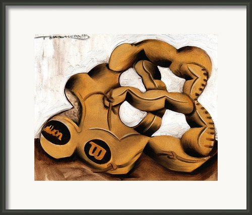 Baseball Glove Framed Print By Tommervik