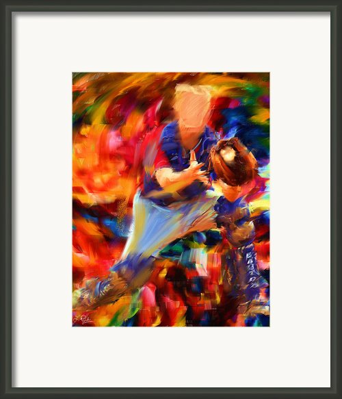 Baseball Ii Framed Print By Lourry Legarde