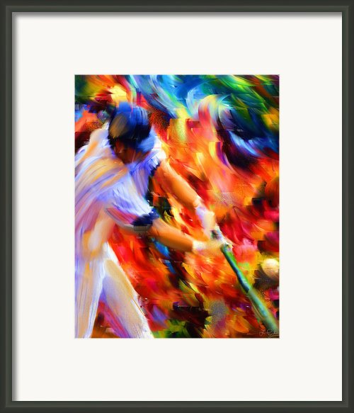 Baseball Iii Framed Print By Lourry Legarde