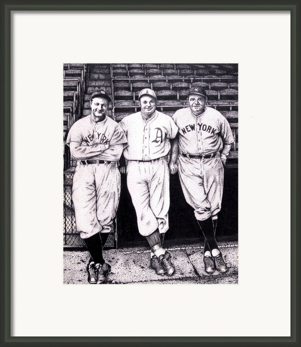 Baseball Legends Framed Print By Bruce Kay