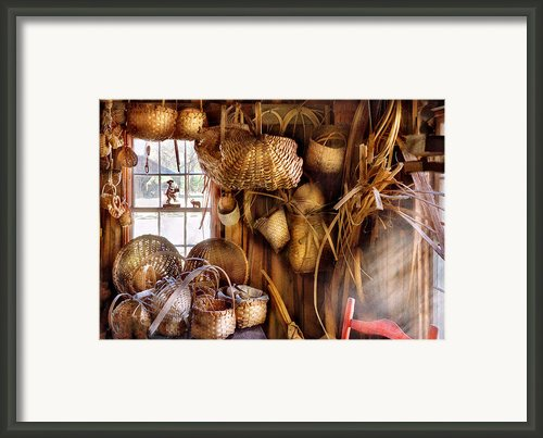 Basket Maker - I Like Weaving Framed Print By Mike Savad