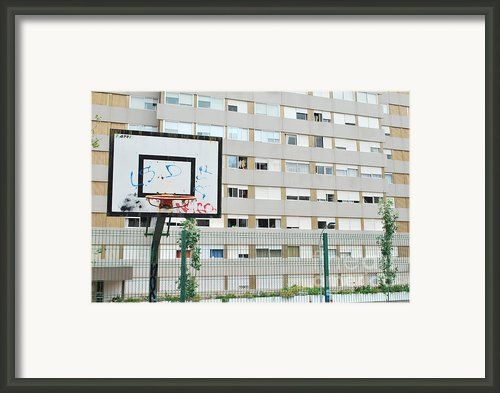 Basketball Court In A Social Neighbourhood Framed Print By Luis Santos