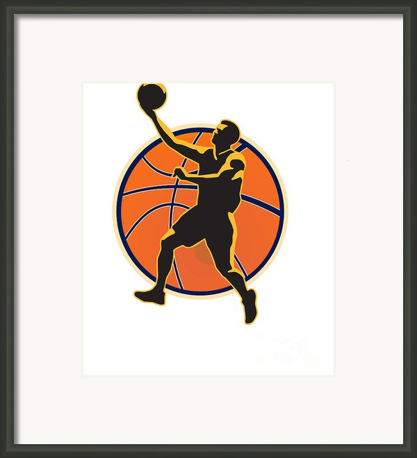 Basketball Player Lay Up Ball Framed Print By Aloysius Patrimonio