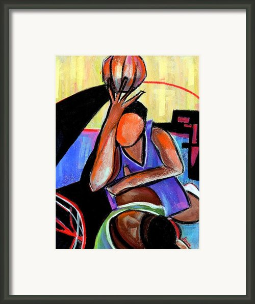 Basketball Practice Framed Print By Jaxine Cummins