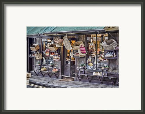 Baskets For Sale Framed Print By Heather Applegate