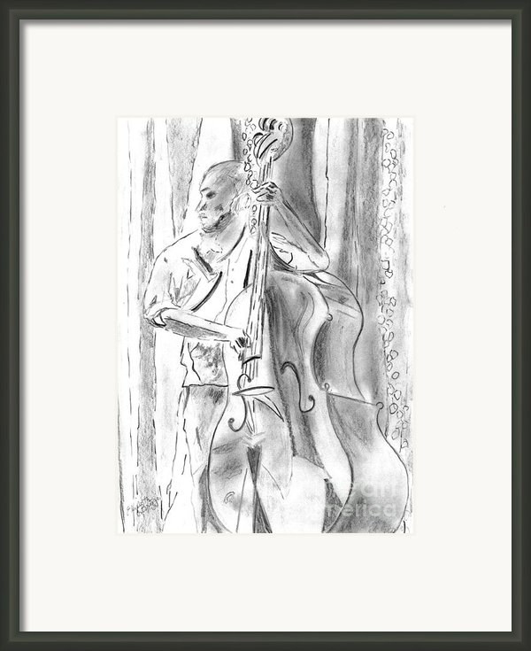 Bass Fiddle Blues Framed Print By Elizabeth Briggs