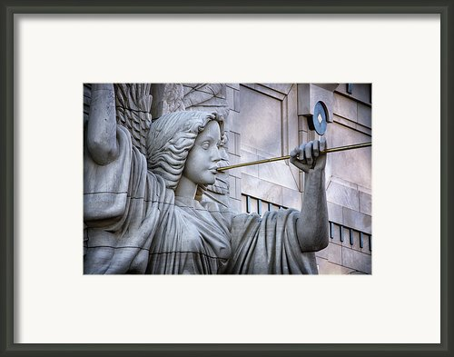 Bass Hall Angel Framed Print By Joan Carroll