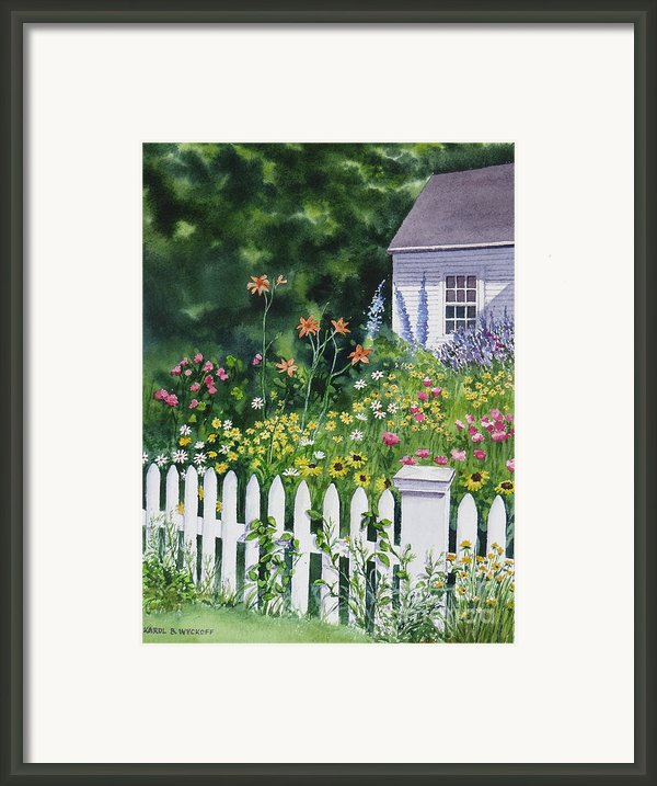 Bass River Cottage Framed Print By Karol Wyckoff