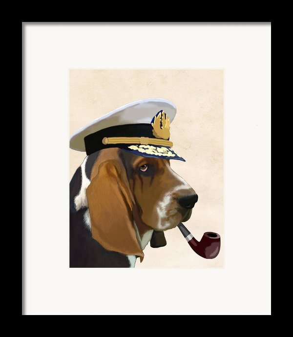 Basset Hound Seadog Framed Print By Kelly Mclaughlan