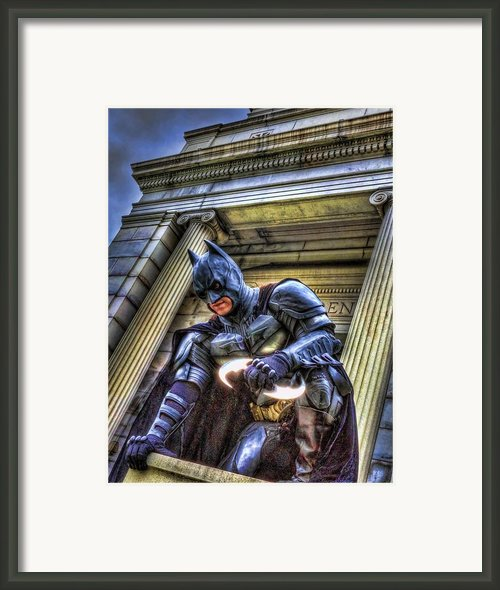 Batman - Dark Knight - City Of Fear Framed Print By Lee Dos Santos