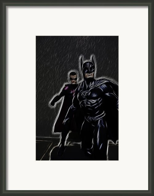 Batman And Robin Framed Print By Lee Dos Santos