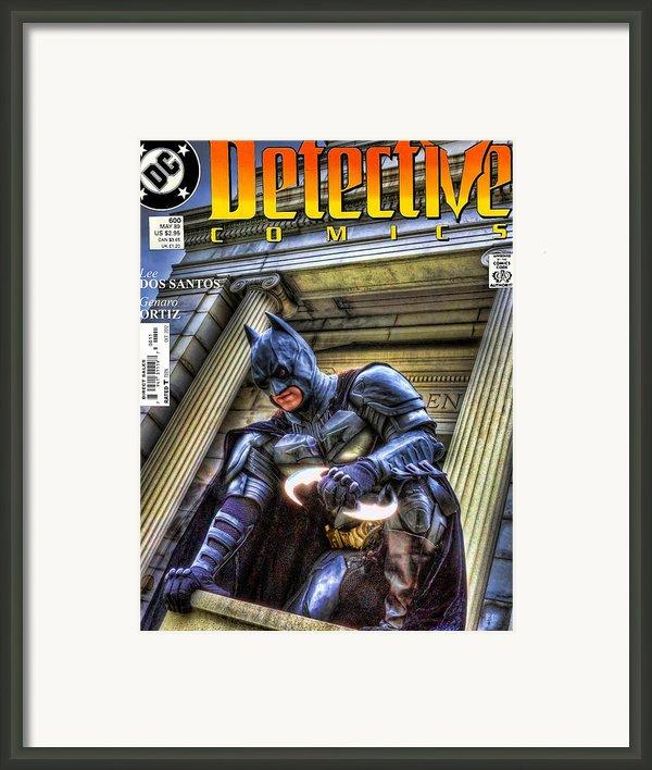 Batman - Dark Knight Comic Book Framed Print By Lee Dos Santos